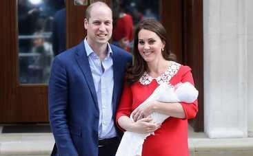 Кейт Миддлтон и принц Уильям показали маленького принца