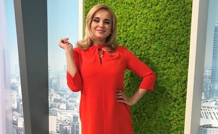 Лилия Ребрик вернулась после родов к прямым эфирам «Ранку з Україною»