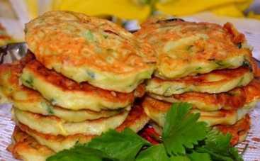 Оладьи из кабачков с сыром (рецепт)