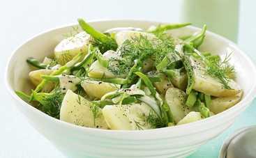 Салат из молодого картофеля с укропом (рецепт)