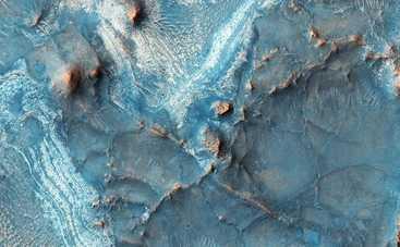 Секретные фото Марса: на Красной планете обнаружили голубые дюны