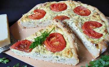 Пирог с сыром и помидорами (рецепт)