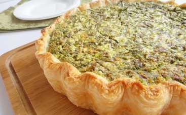 Творожный пирог с зеленью (рецепт)