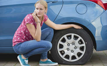 Езда на недокачанных шинах может привести к ДТП