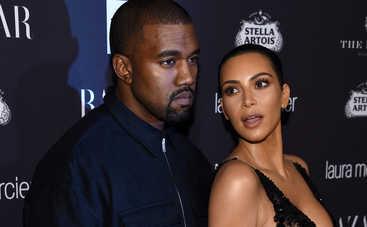 Ким Кардашьян в недоумении от неадекватного поведения мужа
