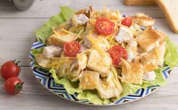 Просто и со вкусом: салат с сухариками «Праздничный» (рецепт)