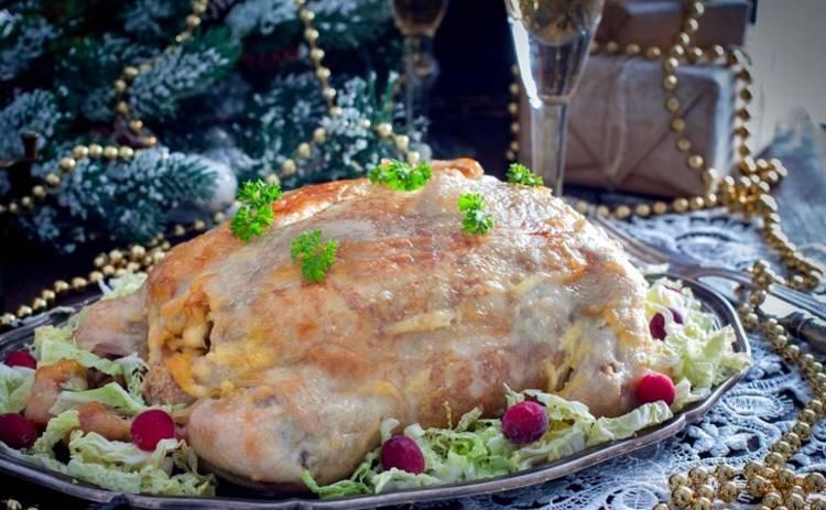 Курица, фаршированная блинами: новогоднее блюдо от Марины Узелковой