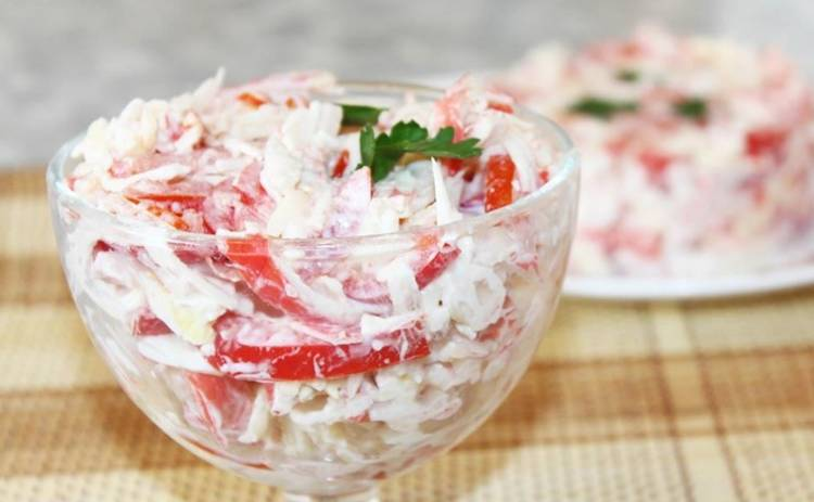Непревзойденный салат «Красное море» с крабовыми палочками (рецепт)