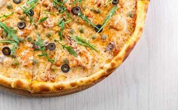 Нежная пицца с морепродуктами (рецепт)