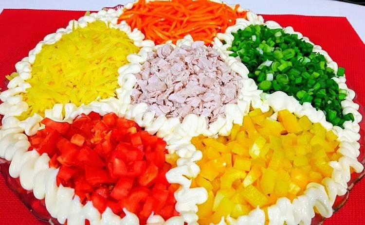 Красочный, вкусный и полезный салат «Калейдоскоп» (рецепт)
