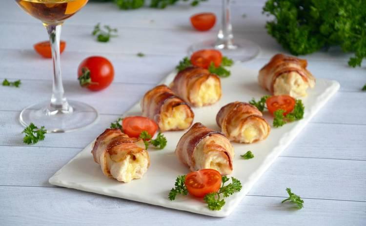 Невероятно вкусно! Куриные рулеты с сыром и зеленью (рецепт)