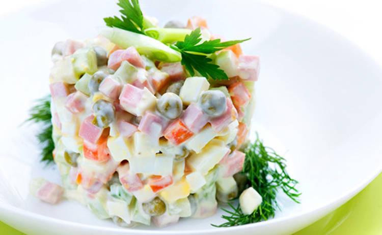 Весенний салат «Оливье»: оригинальный вариант любимого лакомства (рецепт)