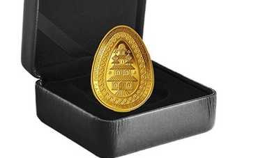 Пасха 2019: в Канаде выпустили золотую монету в форме писанки