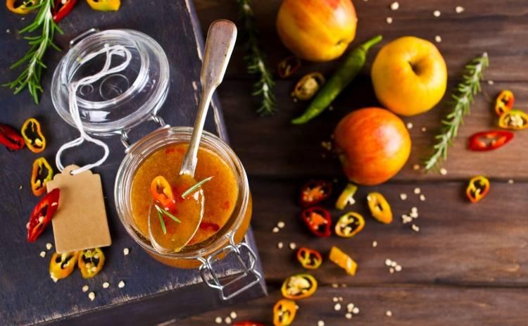 Яблочный джем с перцем и специями - рецепт