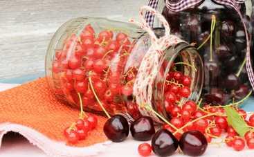 Джем из красной смородины и черешни (рецепт)