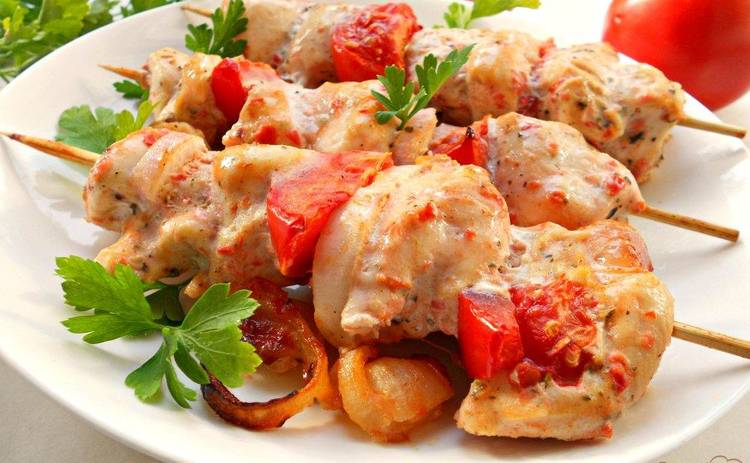 Куриный шашлык в кефирном маринаде (рецепт)