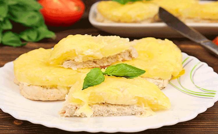 Сочная куриная грудка с ананасом - оригинальный рецепт