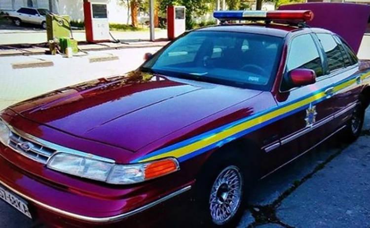На киевских дорогах был замечен уникальный полицейский автомобиль