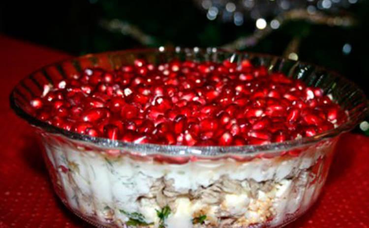 Аппетитный салат «Дамский каприз» (рецепт)