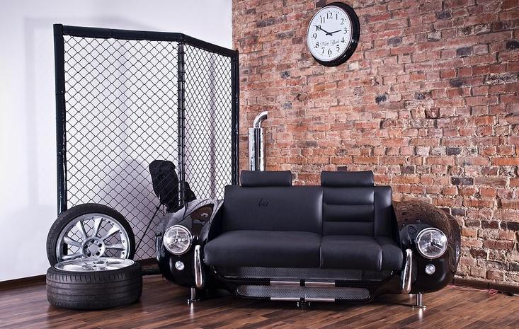 Идеи для мебели из автомобильных деталей