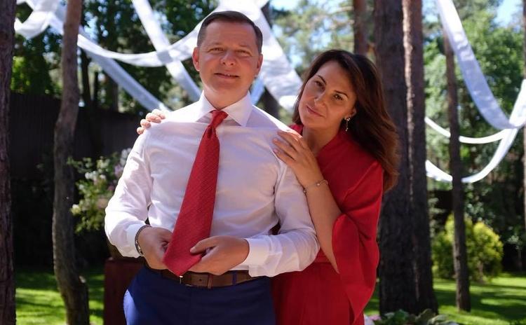 Лидер «Радикальной партии» Олег Ляшко c женой Роситой