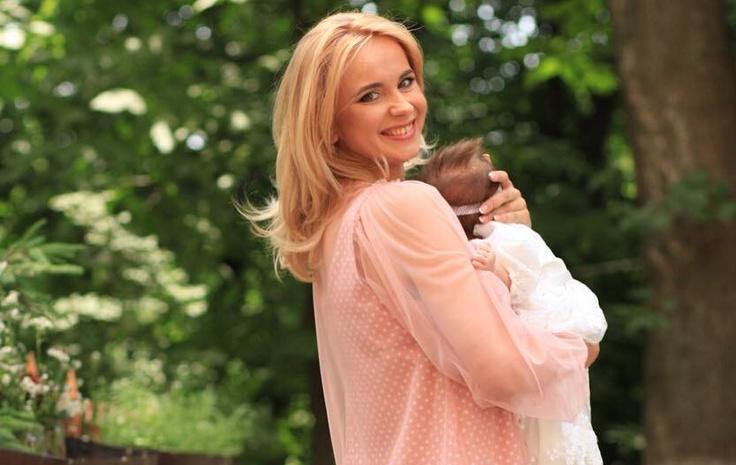 Телеведущая Лилия Ребрик и ее младшая дочь Полина