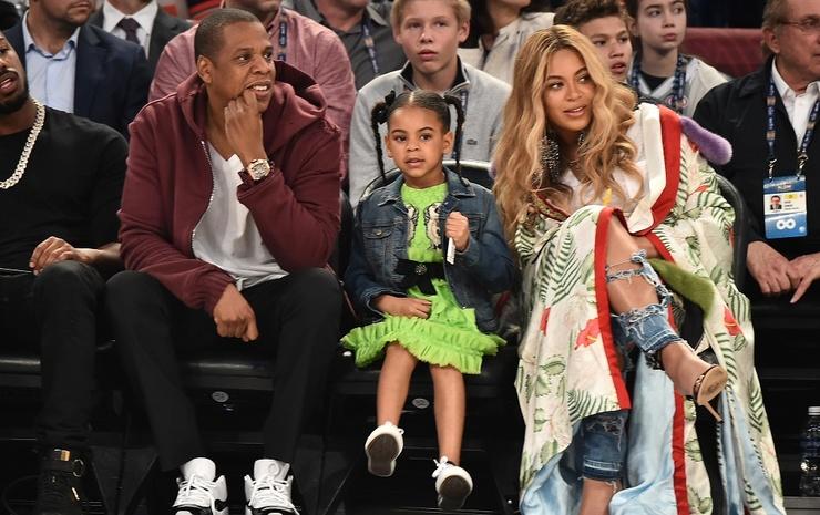 Бейонсе и Jay-Z с дочерью