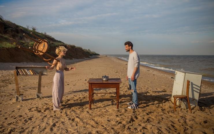 Вера Кекелия во время съемок клипа