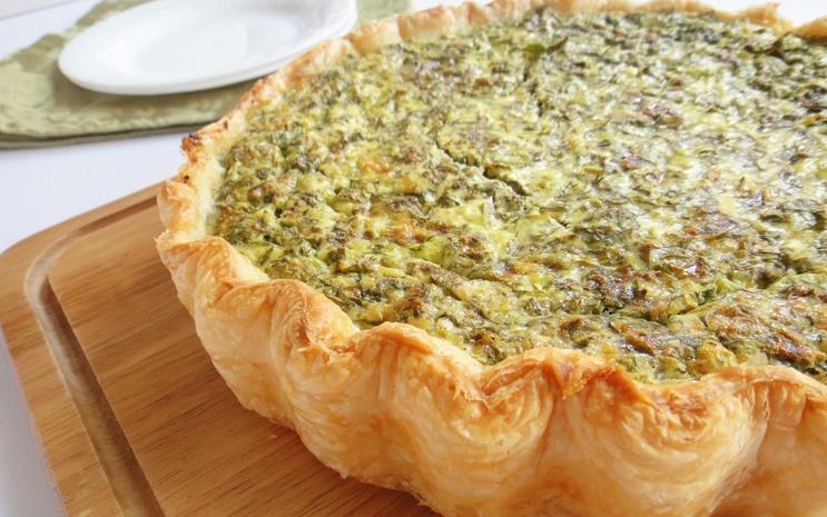 Готовим дома творожный пирог с зеленью