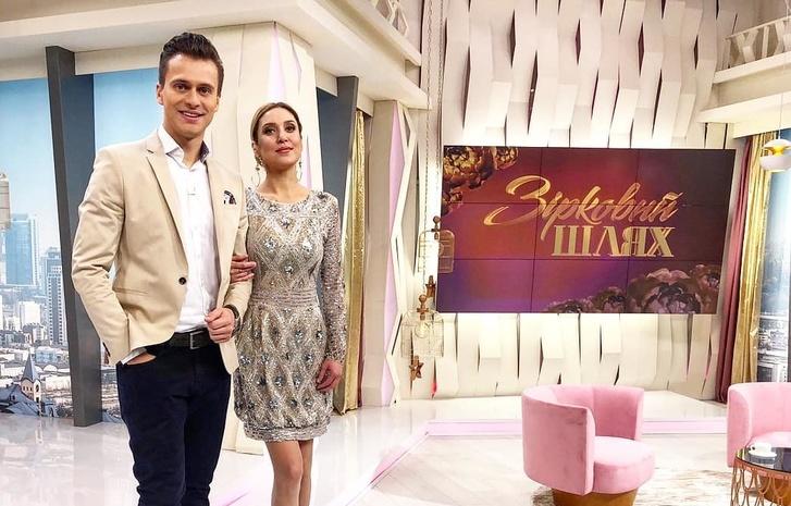Ведущие программы «Зірковий шлях» Александр Скичко и Алена Винницкая