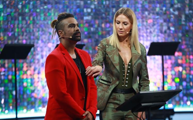 Украино-венесуэльский хореограф и певец Амадор Лопес и ведущая Леся Никитюк