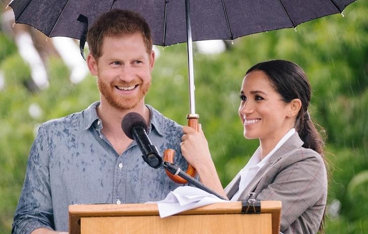 Британская королевская семья Меган Маркл и принц Гарри