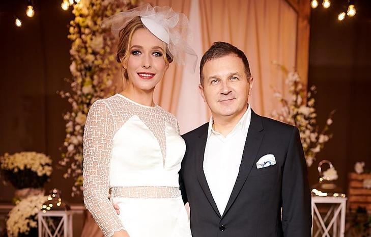 Телеведущие Катя Осадчая и Юрий Горбунов