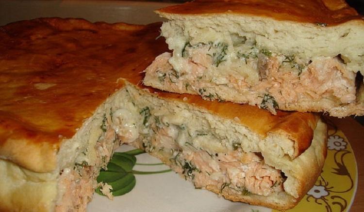 пирог с рыбой рецепт с фото