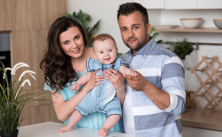 Алексей Душка с семьей
