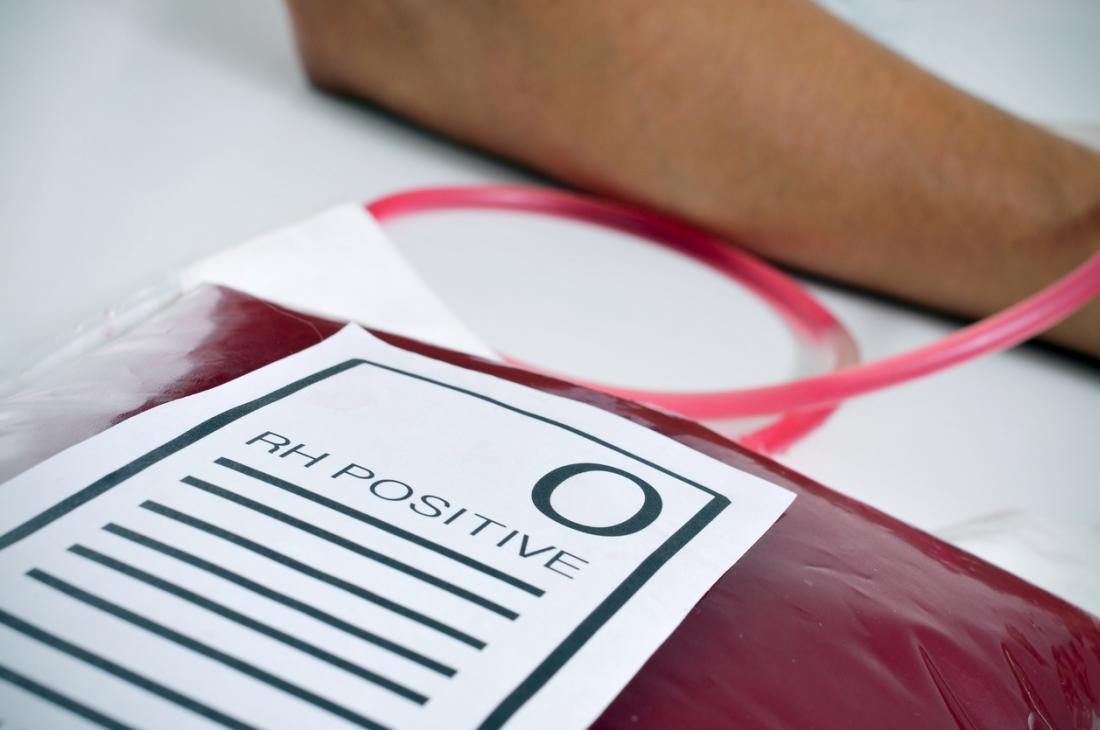 blood-type-o-rh-positive-being-collected